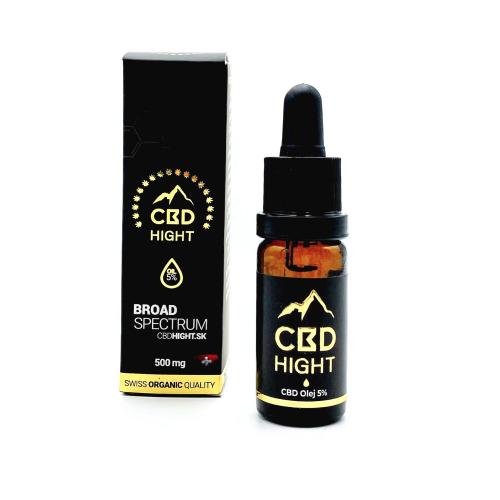 CBD olej Hight 5% Broad Spectrum