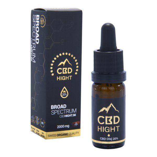 CBD olej HighT 20% Broad Spectrum  je vyrobené z CBD extraktu a kvalitného MCT oleja